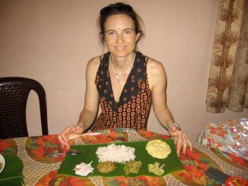 Ayurvedic meal with all 6 tastes included